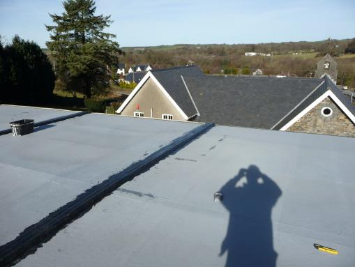 School Portacabin Flat Roof Fix Ciliau Aeron Aberaeron