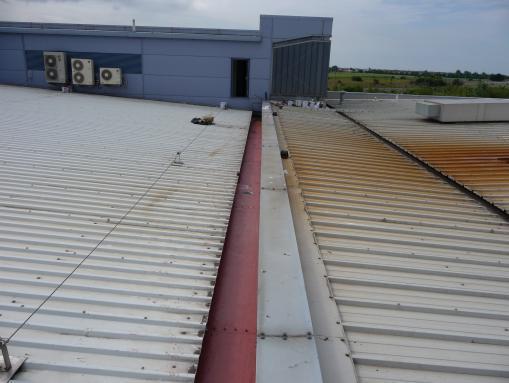 Leaking Factory Metal Box Gutter Baglan Industrial Estate